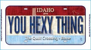 2016  Row By Row License Plate - You Hexy Thing