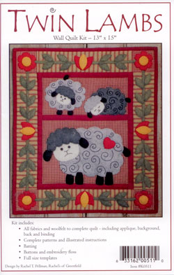 Twin Lambs Wool Wall Quilt   Rachel's of Greenfield
