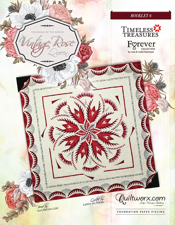 Vintage Rose (Queen) By Quiltworx