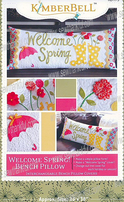 Welcome Spring! Bench Pillow (CD) By Kimberbell