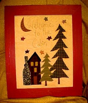 Cabin Welcome Stitchery <br> By  Waltzing With Bears