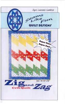 Zig and Zag Crib Quilt   by Joyce Lawrence Cambron