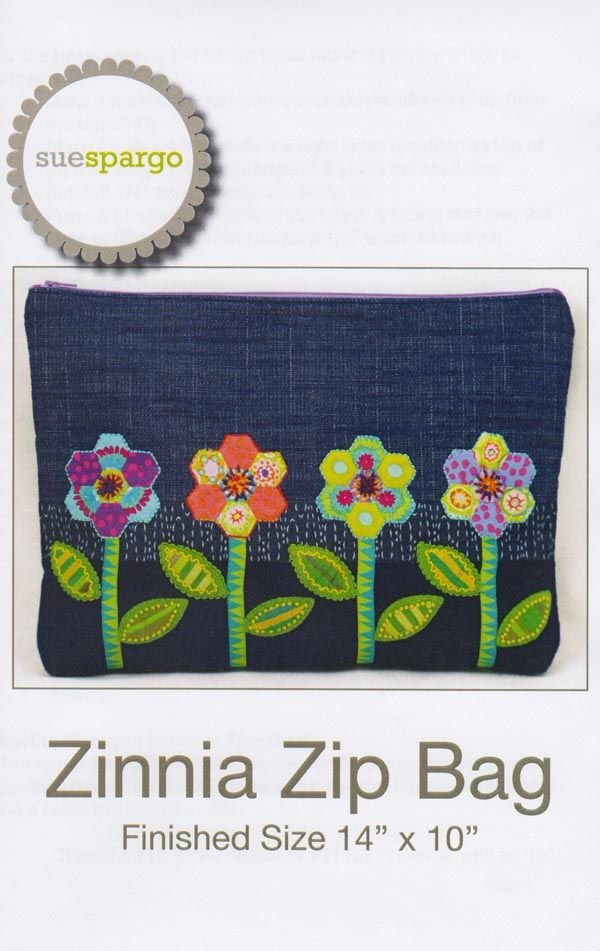 Zinnia Zip Bag By Sue Spargo