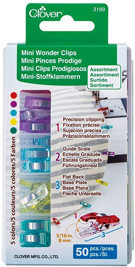 Clover Mini Wonder Clips- 50 Pack