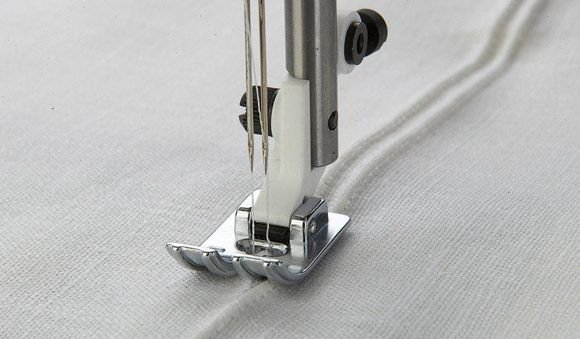 3 Groove Pin Tuck Foot with Raised Seam Foot