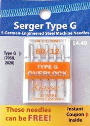 Serger Needle Type G