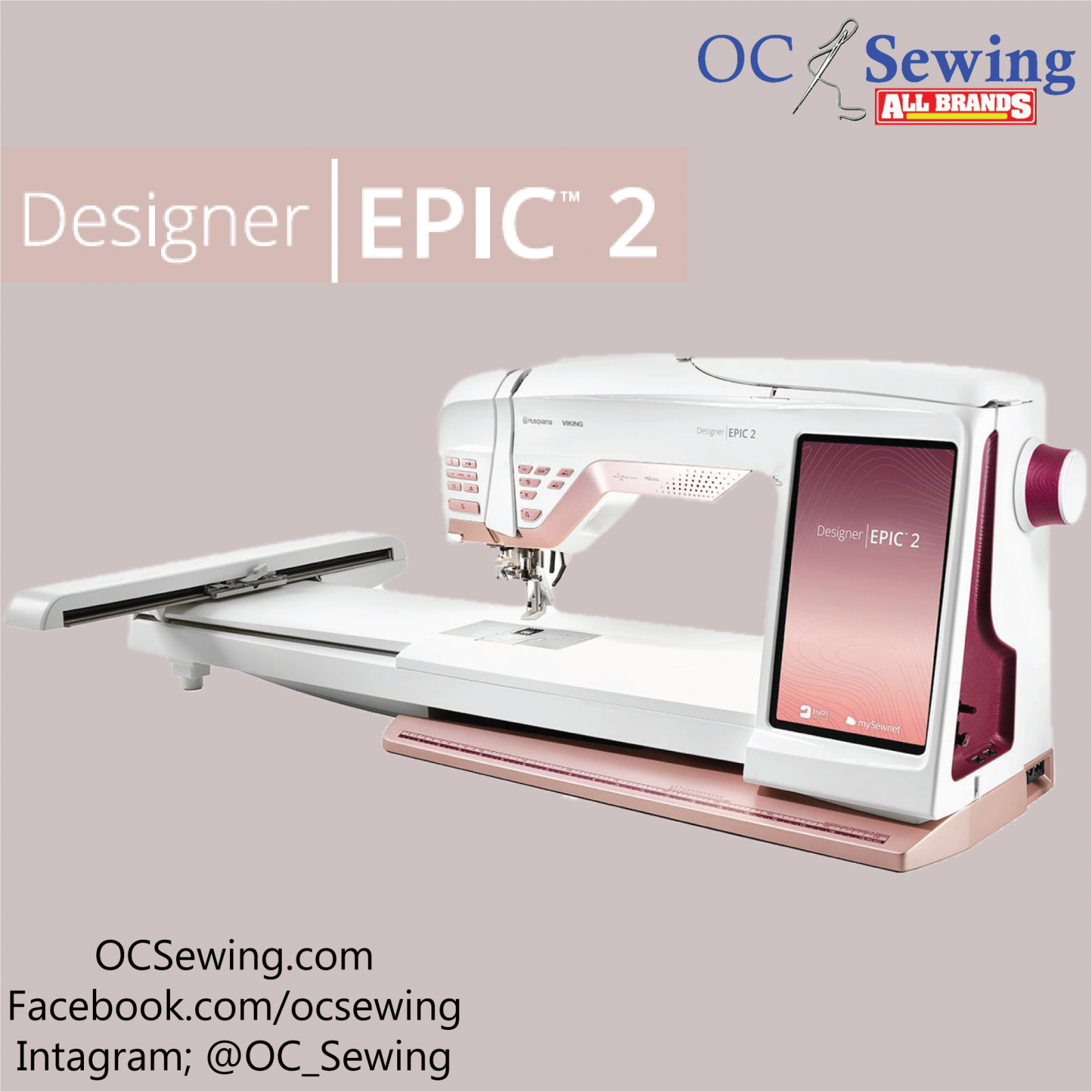 Designer Epic 2 Embroidery and Sewing Machine