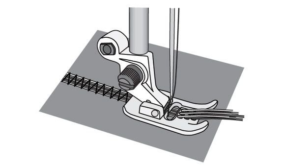 7 hole cord foot with threader