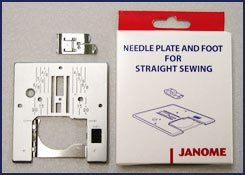 Janome Needle Plate and Foot for Straight Stitching
