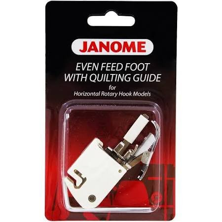Janome Even Feed Foot with Quilting Guides for Memory Craft embroidery Machines