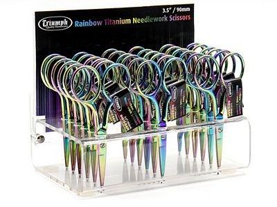 Rainbow Embroidery Titanium Scissor