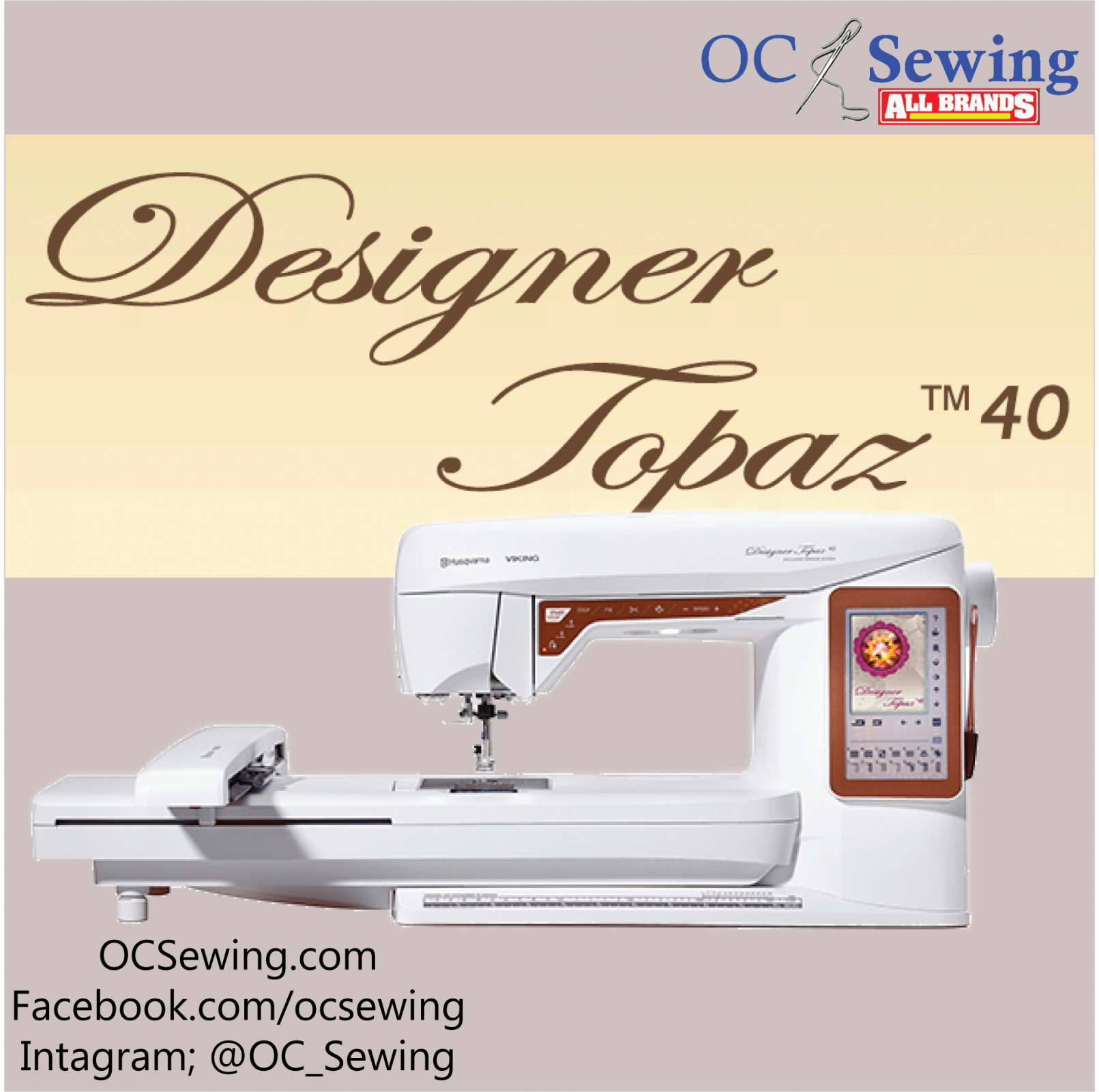 Designer Topaz 40 Embroidery and Sewing Machine