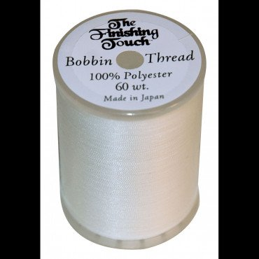 FINISHING TOUCH 60WT BOBBIN THREAD WHITE SOLD BY BOX OF 5