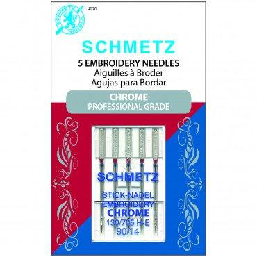 Schmetz Chrome Embroidery Needle 90/14