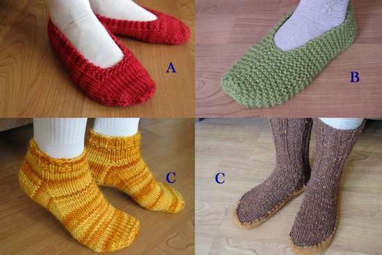 Lots of Slippers by Knitting Pure and Simple