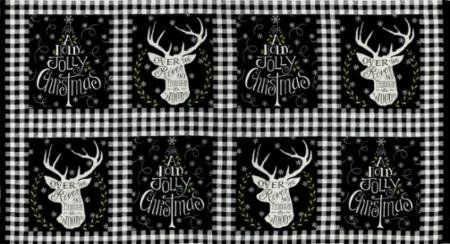 Hearthside Holiday Panel- Black/White #19830 13