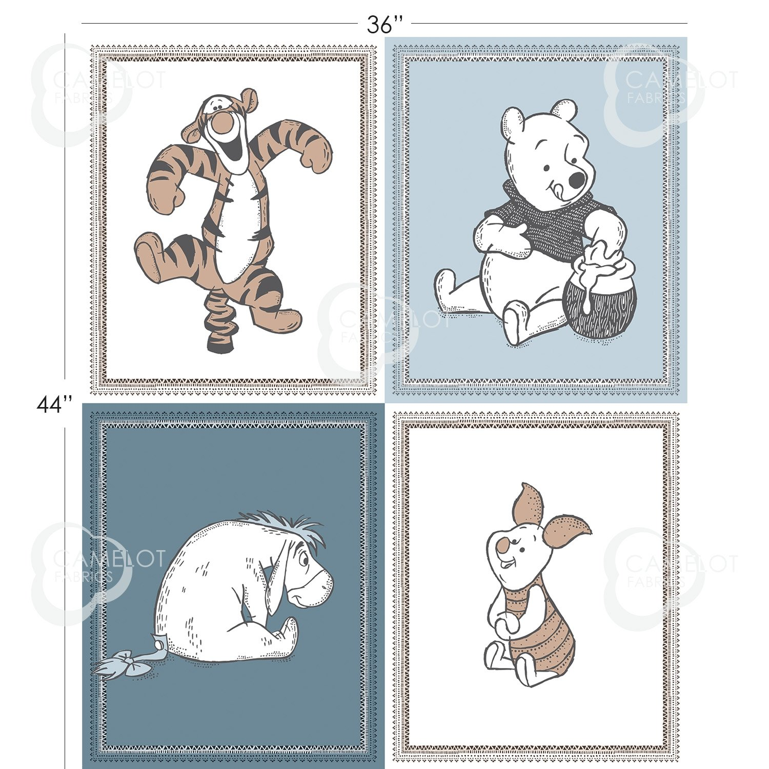 Winnie The Pooh Wonder and Whimsy #85430411P Characters Panel