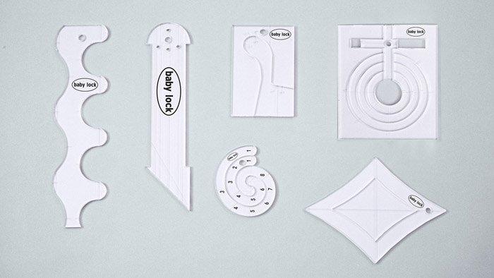 Baby Lock 1/4 Acrylic Ruler Set- High Shank