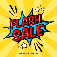 Flash Sale Today Knit Fabrics Creekside Fabrics Arcade NY<a href='https://www.freepik.com/free-vector/creative-yellow-flash-sale-design-in-comic-style_1713555.htm'>Designed by Freepik</a>