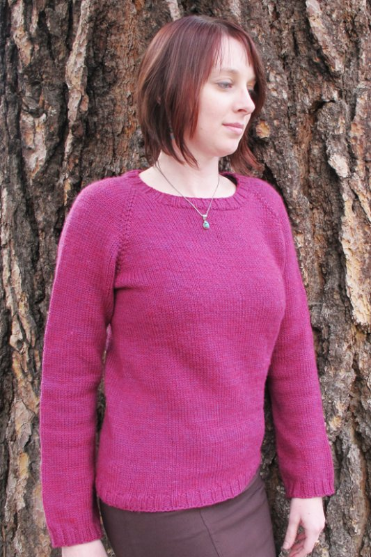 Mid Weight Neck Down Pullover by Knitting Pure and Simple