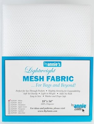 Lightweight Mesh Fabric from By Annie- White