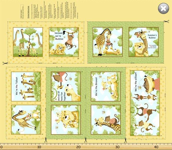Jungle Story Book Panel #SB20056-830