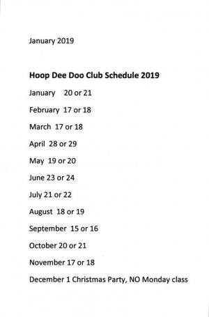 hoop dee doo embroidery club 2019 schedule