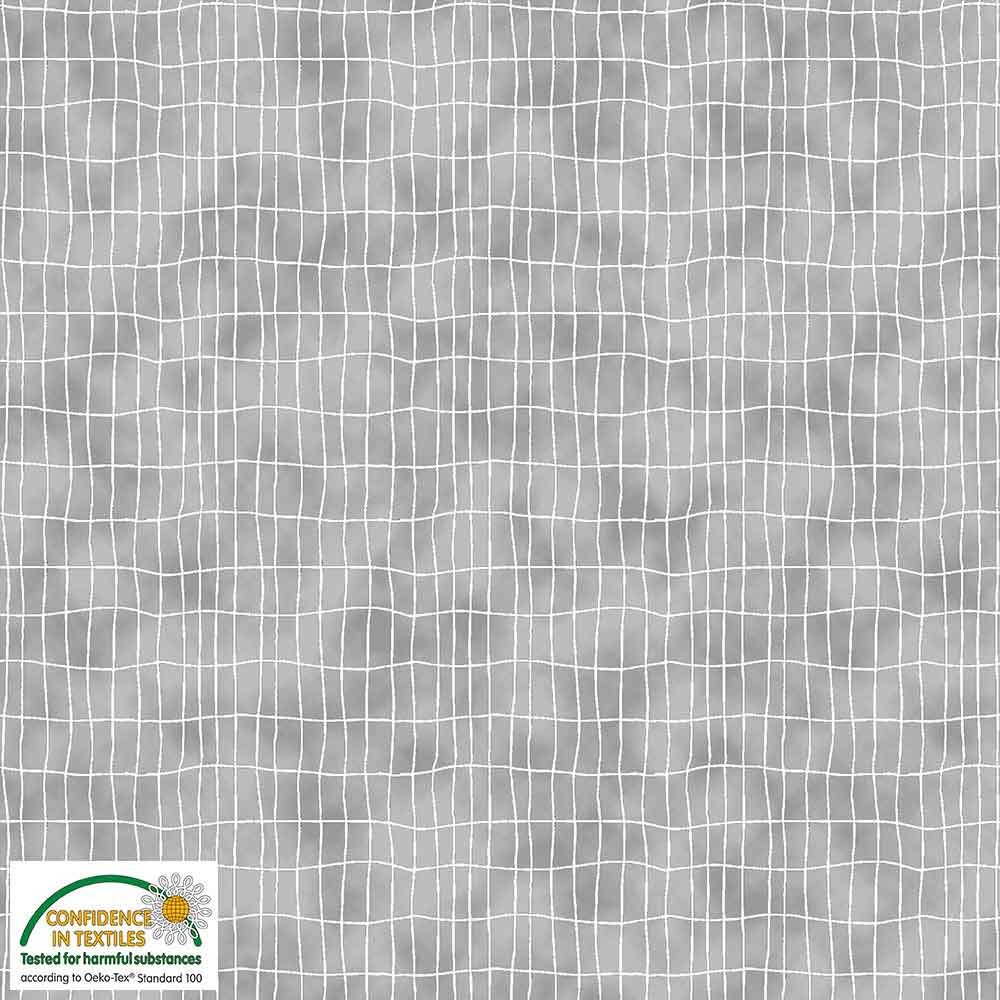 S-Quilter's Combination from Stof Fabrics for Blank Quilting #4518-021- Grey Grid