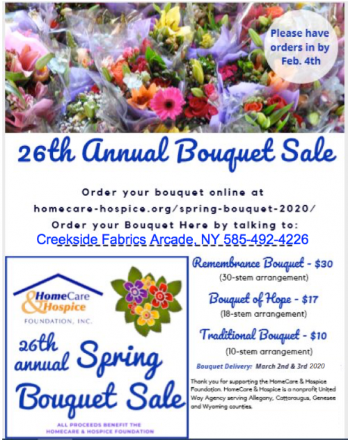 Hospice Spring Bouquets Creekside Fabrics, Arcade, NY