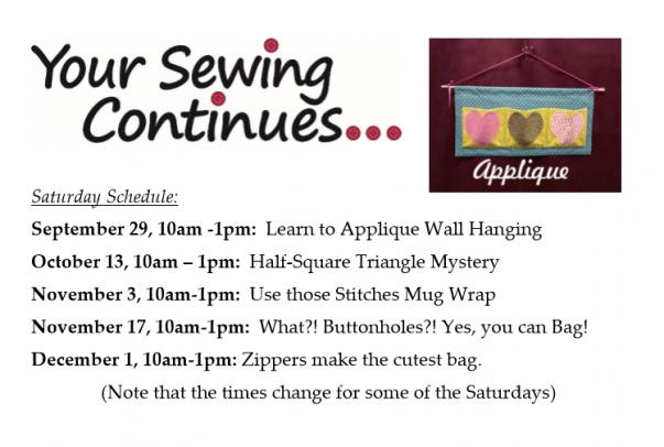 beginner sewing classes 2019
