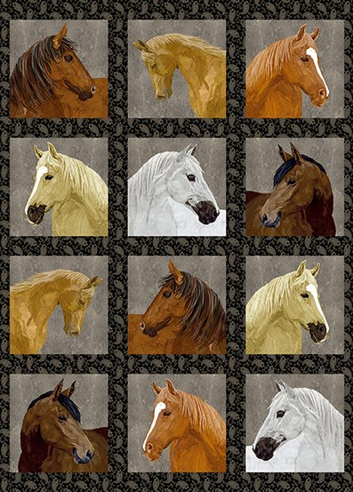 Thoroughbreds Horse By Two Can Art  AD-115-K
