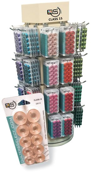Quilters Select Pre-wound Bobbins - QB0525 Athletic Gold