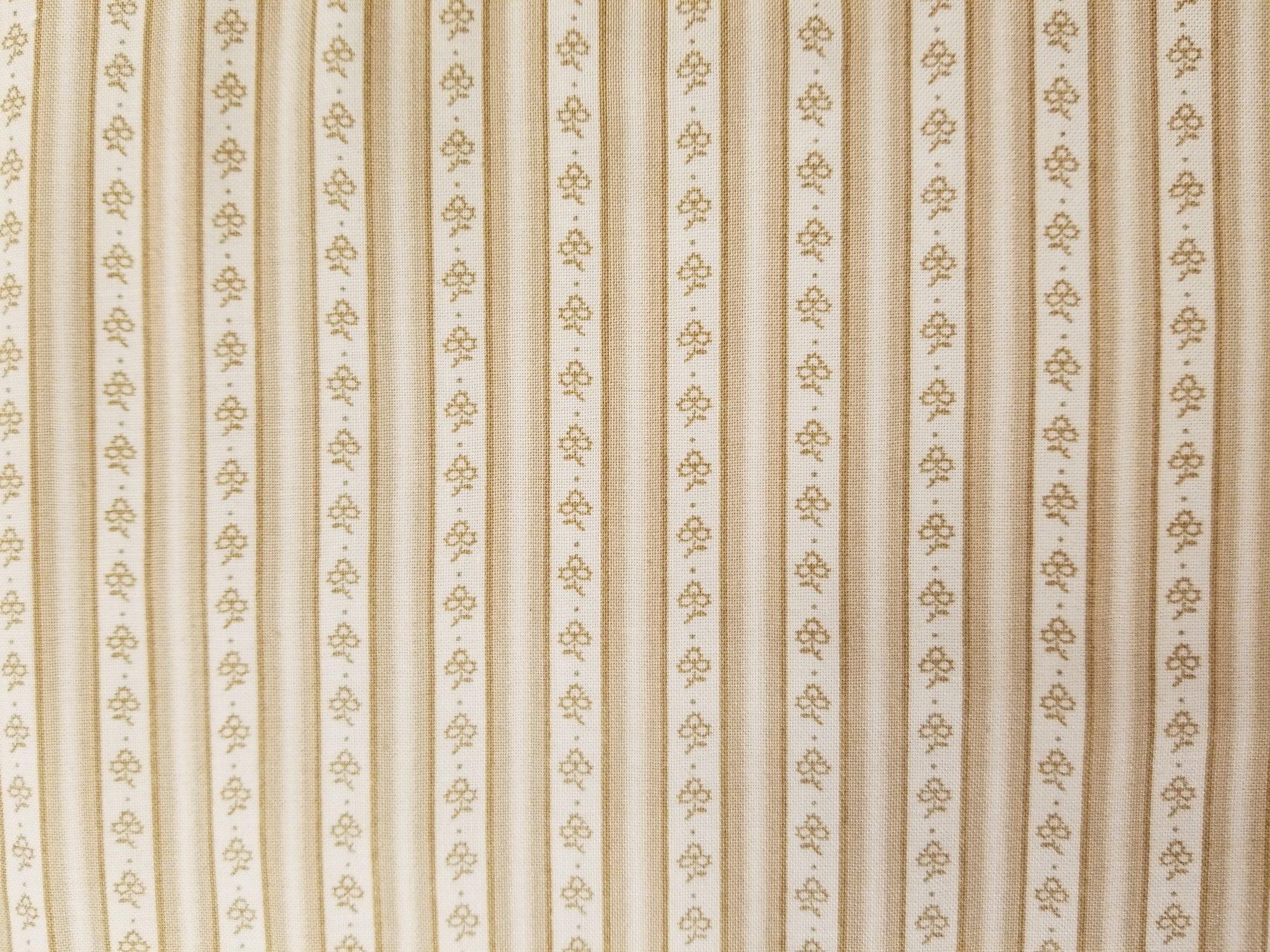 Hannah Wallis from Windham Fabric #3200-72- Beige Stripe