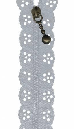 12in Big Lacie Zipper - Gray BCS 1144