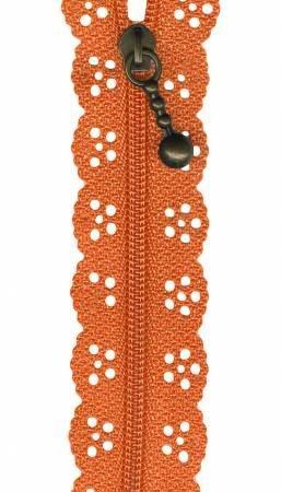 12in Big Lacie Zipper - Orange