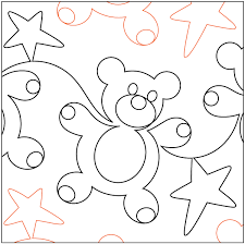 Gummy Bears 9.75in Pantograph - Paper Pantograph