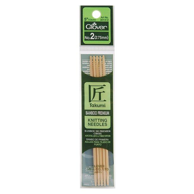 Clover Takumi Bamboo Double Pointed Knitting Needles