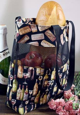 Vinyl Mesh Market Bag by Cut Loose Press CLPTQF001