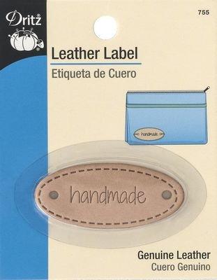 Dritz Leather Label- Handmade