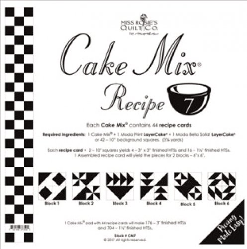 Cake Mix Recipe #7 from Miss Rosie's Quilt Co. for Moda