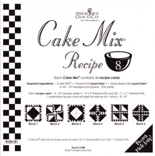 Cake Mix Recipe #8 from Miss Rosie's Quilt Co. for Moda