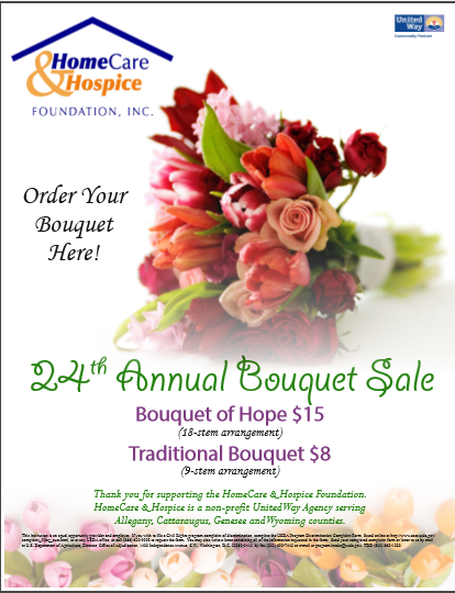 Hospice Spring Bouquets 2018