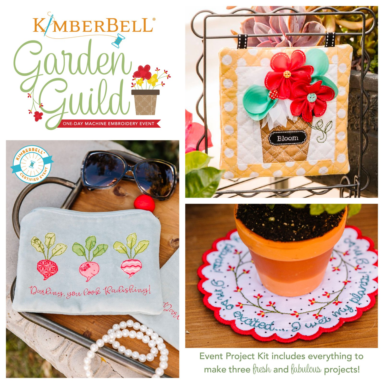 Kimberbell and Creekside Fabrics Garden Guild 2021