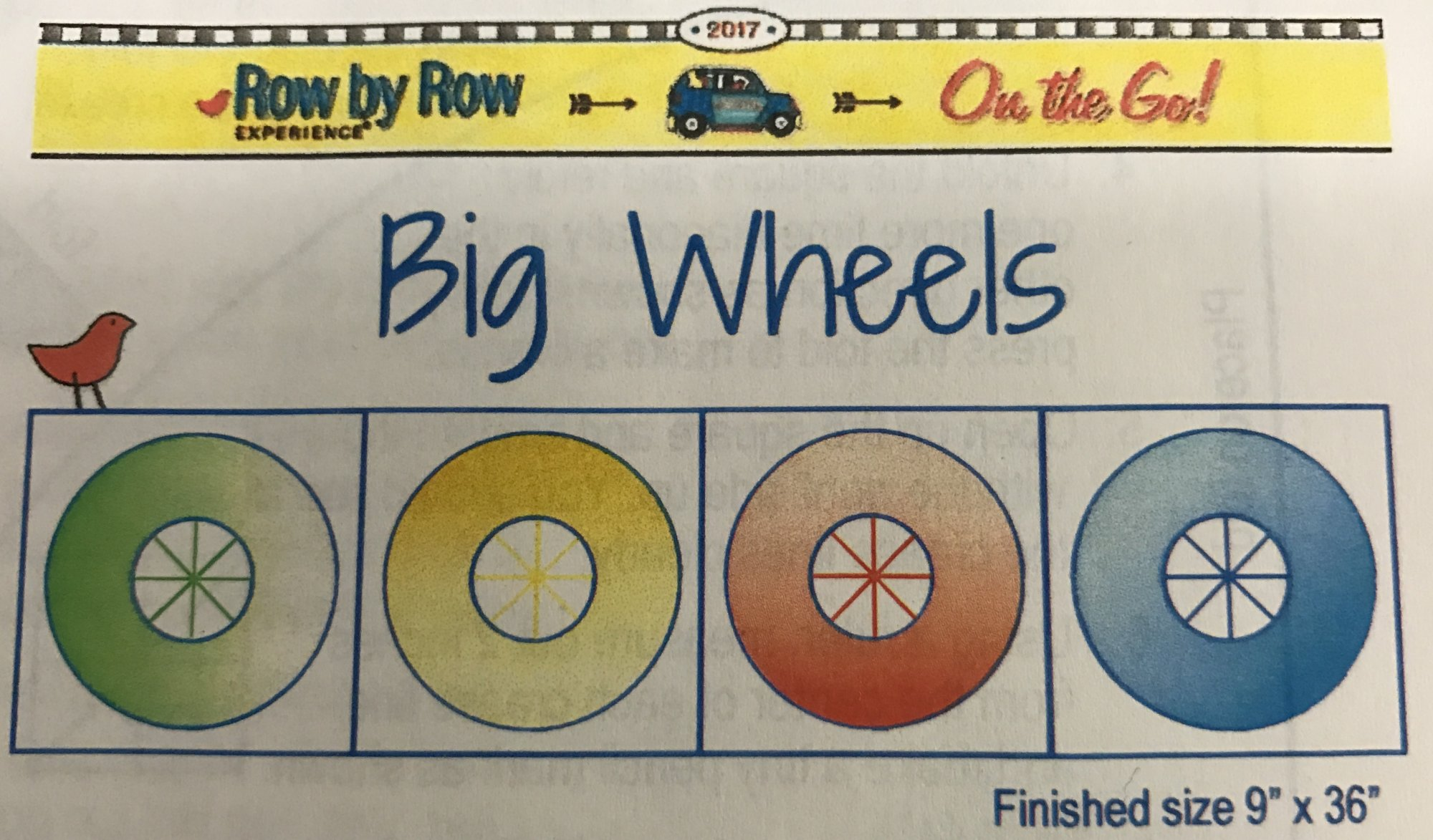 Jr Row by Row 2017 - Big Wheels Kit