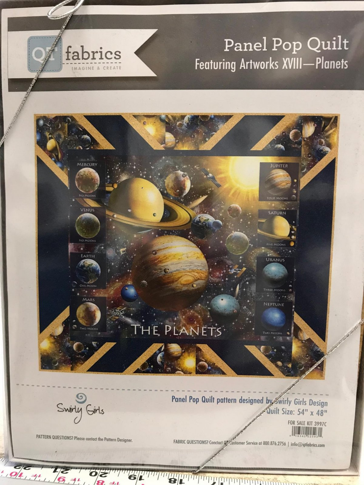 Panel Pop Quilt Featuring Artworks XVIII - Planets