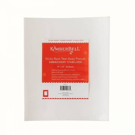 KimberBell Sticky Back Tear-Away 10in x 12in 40ct KDST137