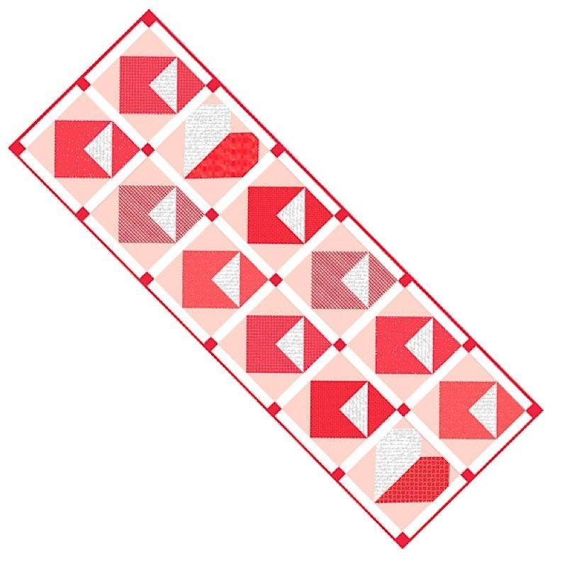 Riley Blake Table Runner Of The Month- January 2020- Love Notes