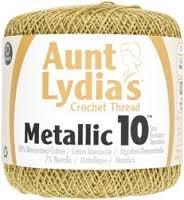Aunt Lydia's Crochet Thread Metallic 10 - 100 yards