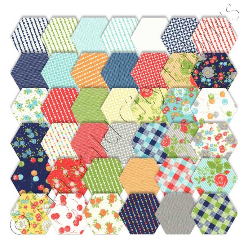 Happy-Go-Lucky Honeycomb by Moda Fabrics - 55060 : moda quilt fabric - Adamdwight.com