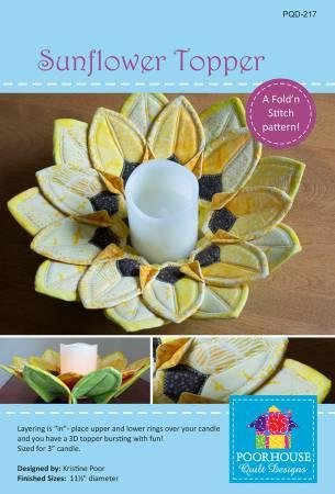 Fold N Stitch Sunflower Topper